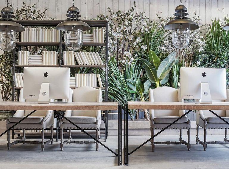Bibliothèque industrielle 5 étagères bois de Pin massif et acier noir Stone 180 cm - Photo n°3