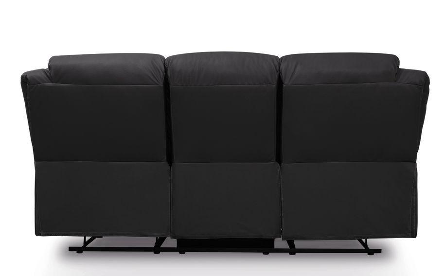 Canapé relaxation manuel 3 places microfibre noir Confort - Photo n°4