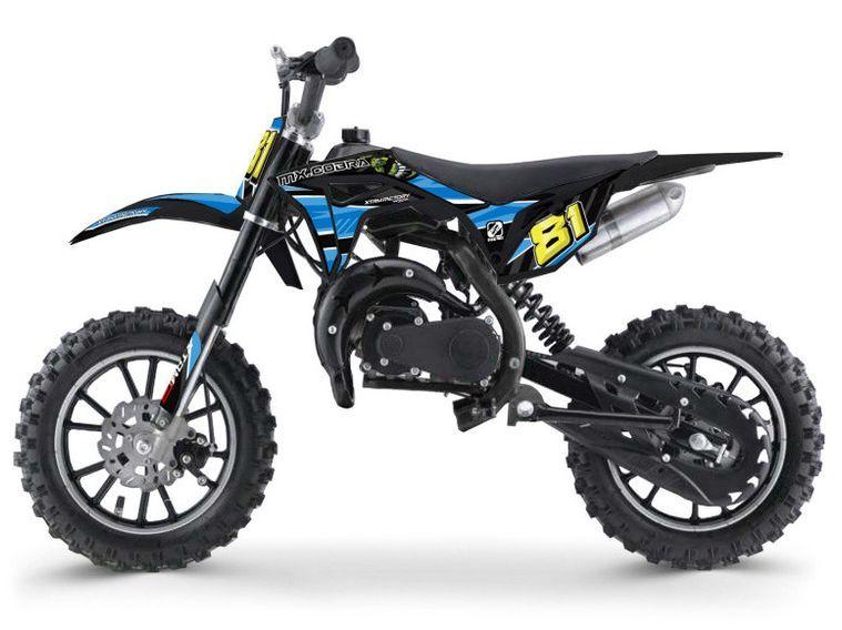 Moto cross enfant 50cc 2 Temps 10/10 bleu Kobra - Photo n°1