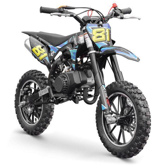 Moto cross enfant 50cc 2 Temps 10/10 bleu Kobra - Photo n°2