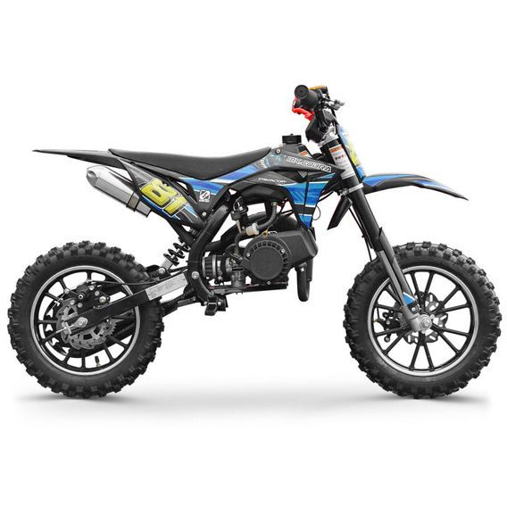 Moto cross enfant 50cc 2 Temps 10/10 bleu Kobra - Photo n°3
