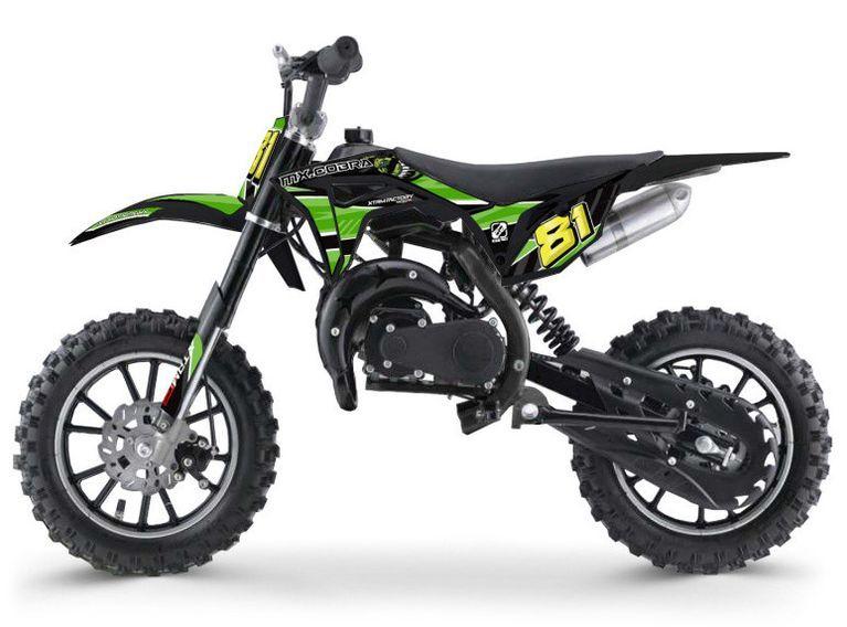 Moto cross enfant 50cc 2 Temps 10/10 vert Kobra - Photo n°1