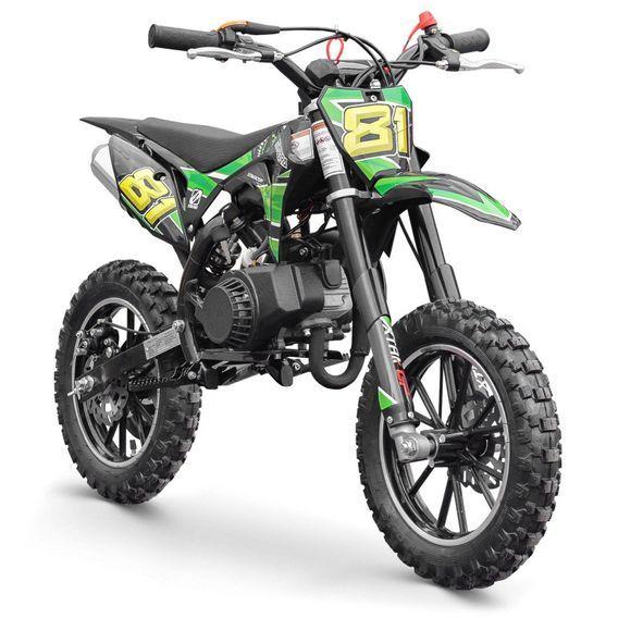 Moto cross enfant 50cc 2 Temps 10/10 vert Kobra - Photo n°2