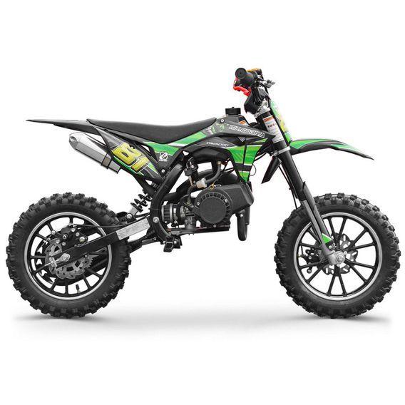 Moto cross enfant 50cc 2 Temps 10/10 vert Kobra - Photo n°3