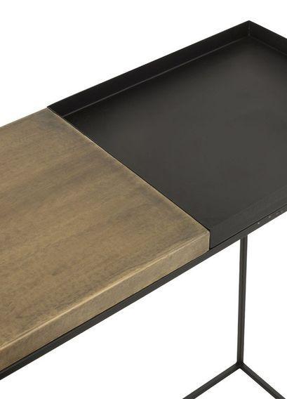 Console métal noir et doré Ysarg - Lot de 2 - Photo n°3