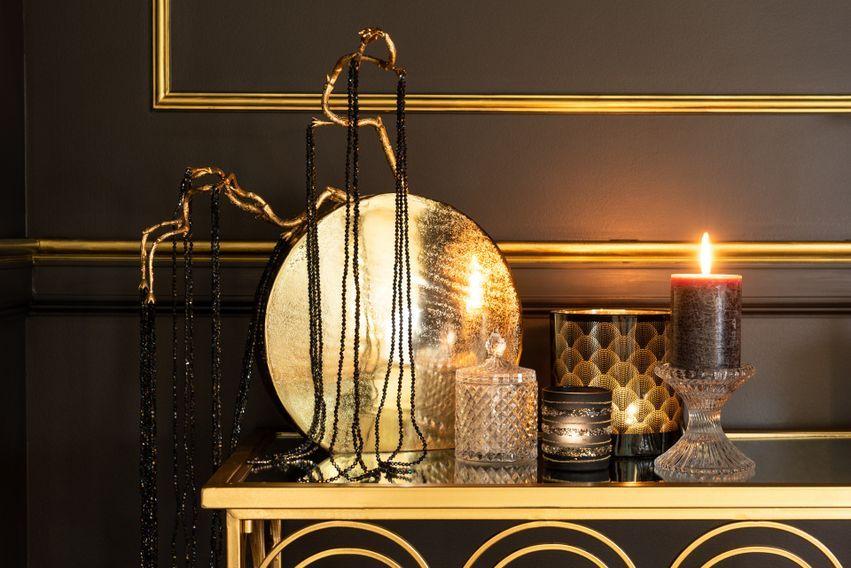 Console métal noir et doré Ysarg - Lot de 2 - Photo n°4