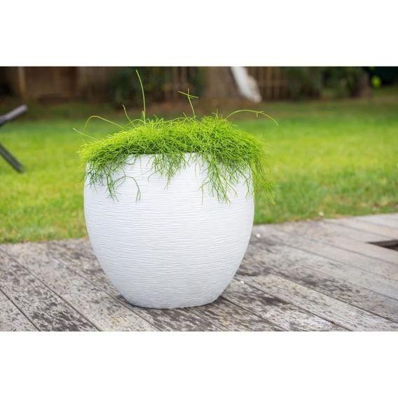 EDA Pot rond Graphit Ø50cm - Contenance 46L - Blanc cérusé - Photo n°3