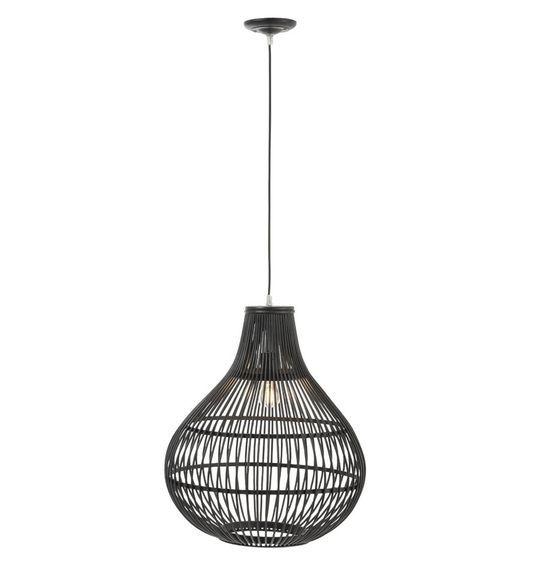 Lampe suspension bambou noir Narsh - Lot de 2 - Photo n°2