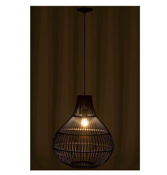 Lampe suspension bambou noir Narsh - Lot de 2 - Photo n°3