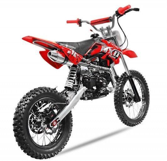 Moto cross 125cc automatique 17/14 rouge Sprinter - Photo n°2