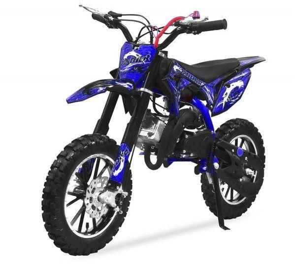 Moto cross 49cc Panthera 10/10 automatique bleu - Photo n°2