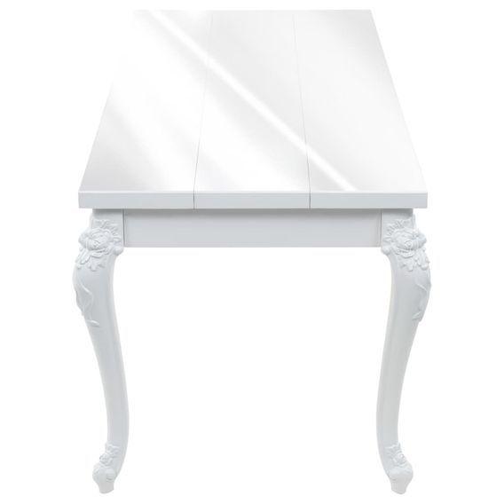 Table à manger rectangulaire blanc brillant Brack 180 - Photo n°3
