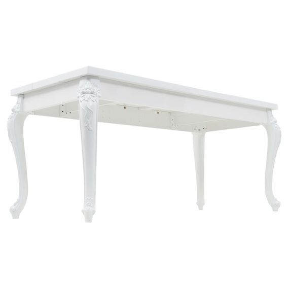 Table à manger rectangulaire blanc brillant Brack 180 - Photo n°4