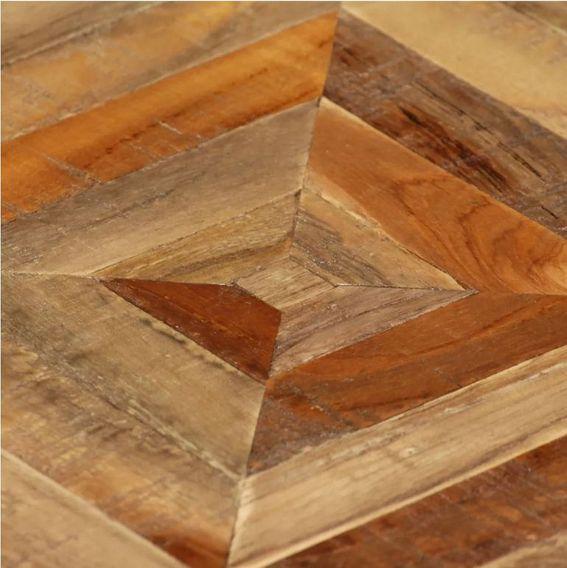 Table d'appoint carrée teck massif clair et pieds béton Tokako - Photo n°4