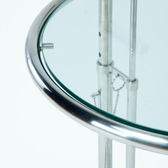 Table d'appoint verre trempé et métal chromé Junie - Photo n°2