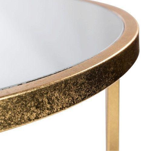 Table de bar et 4 tabourets métal doré et tissu noir Ysarg - Photo n°5