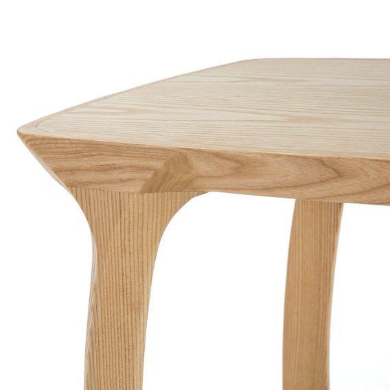 Table de chevet bois massif clair Cristie - Photo n°4