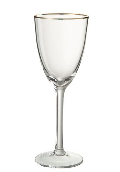 Verre à vin transparent et verre doré Ysarg - Photo n°1