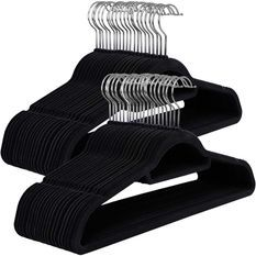 50 cintres velours noir
