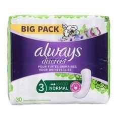ALWAYS Discreet serviettes hygiéniques normal x30