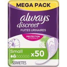 ALWAYSDiscreet Serviettes pour fuites urinaires Small x50