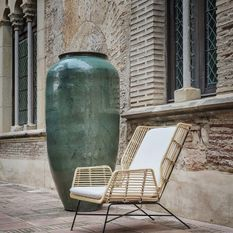 Amphore céramique vert hauteur 160 cm Verdas