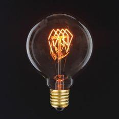Ampoule décorative D 9.5cm filament cercle 40W E27