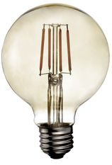 Ampoule LED rétro Edison Globe 9,5cm filament 6,5W E27
