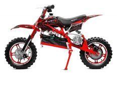 Moto cross enfant 1000W rouge 10/10 pouces Speedo