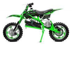 Moto cross enfant 1000W vert 10/10 pouces Speedo