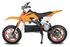 Moto cross enfant 800W orange 10/10 pouces Speedo