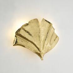 Applique murale design Ginkgo métal doré Aura H 46 cm