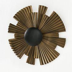 Applique murale métal doré et noir Round