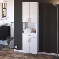 ARMANDO Armoire de salle de bain L 50 cm - Blanc Mat