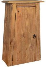 Armoire 1 porte 1 étagère pin recyclé clair Caged