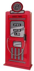 Armoire 1 porte pompe à essence bois rouge Cara L 50 cm