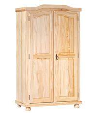 Armoire 2 portes pin massif clair Junn