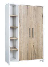 Armoire bébé 2 portes bois blanc et chêne clair Eco Plus
