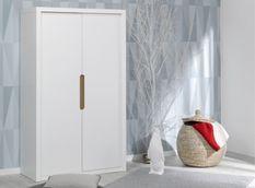 Armoire enfant 2 portes bois blanc Milo