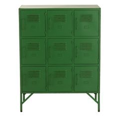 Armoire industriel 9 tiroirs metal vert Viho