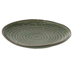 Assiette ronde porcelaine verte Verde D 20 cm
