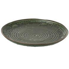 Assiette ronde porcelaine verte Verde D 30 cm