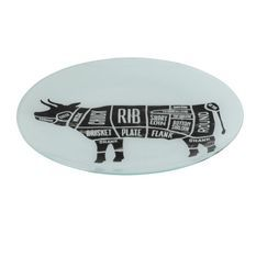 Assiette ronde verre noir et blanc Bothar D 30 cm