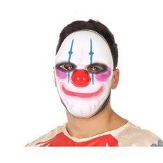 ATOSA - Masque Clown Halloween. - Pour adulte - Blanc