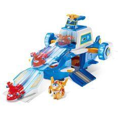 AUER SUPER WINGS - Playset Aéroport World Aircraft +2 Figurines Transform-A-Bots – Dessin Animé Super Wings Saison 5