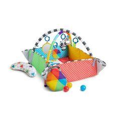 BABY EINSTEIN Tapis d'éveil Patch's 5 en 1 Color Playspace™ Activity Gym & Ball Pit