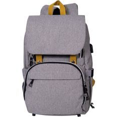 BABY ON BOARD Sac a dos a langer FREESTYLE yellowstone - gris/moutarde