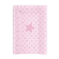 BABYCALIN Matelas a Langer Luxe 50 x 70 cm Etoile Rose Toise Imprimée