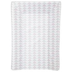BABYCALIN Matelas a langer Luxe - Motifs géométriques - Rose et gris - 50 x 70 cm