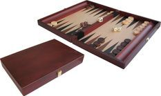 Backgammon Inlayed en bois 35x24cm